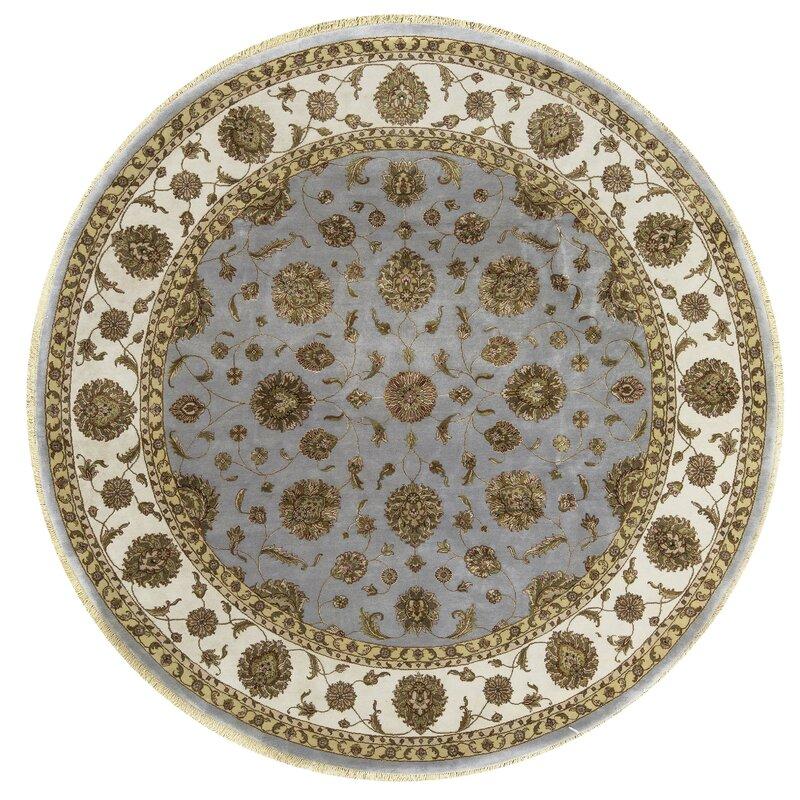 Bokara Rug Co., Inc. One-of-a-Kind Dharma Handwoven Round 10 Wool/Silk Beige/Gray Area Rug