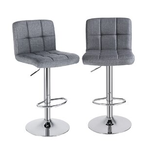 Pommier Height Adjustable Bar Stool (Set Of 2) By 17 Stories