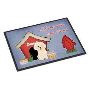 Dog House Bichon Frise Doormat