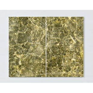 Abstract Motif Magnetic Wall Mounted Cork Board By Ebern Designs