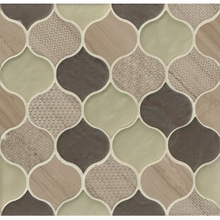 DuJour Glass and Stone Mosaic Tile in Taupe by Grayson Martin