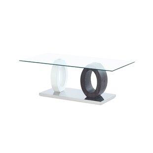 Orren Ellis Spurlock Dual Oval Base Style Coffee Table