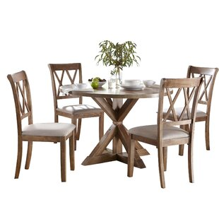 Skyline Pedestal 5 Piece Dining Set