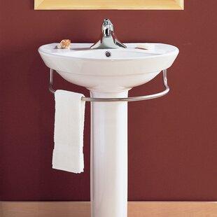 Ravenna Vitreous China 25 Pedestal Bathroom Sink With Overflow