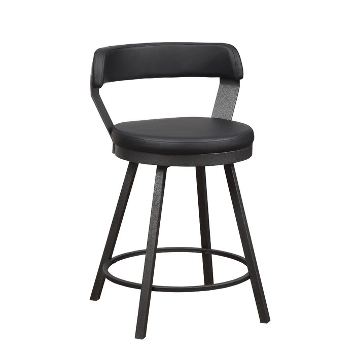 Admirable Hairston 24 Swivel Bar Stool Squirreltailoven Fun Painted Chair Ideas Images Squirreltailovenorg