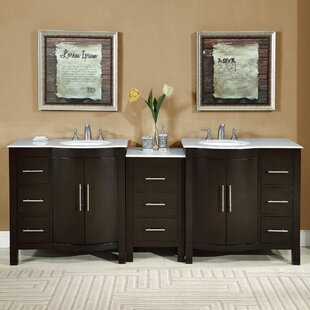 89 Double Lavatory Sink Cabinet Bathroom Vanity Set by Charlton Home
