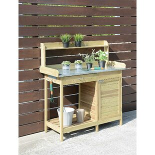 Admirable Deluxe Fir Potting Bench Ibusinesslaw Wood Chair Design Ideas Ibusinesslaworg