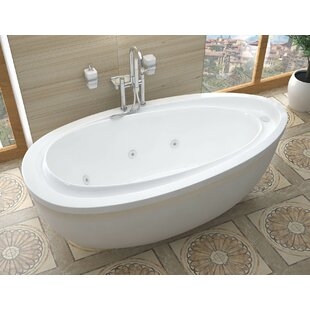 Online Reviews Capricia 71 x 38.37 Oval Freestanding Whirlpool Jetted Bathtub By Spa Escapes