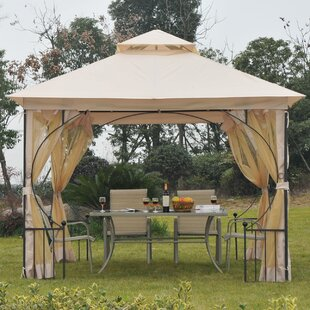 Outsunny 10 Ft. W x 10 Ft. D Metal Patio Gazebo
