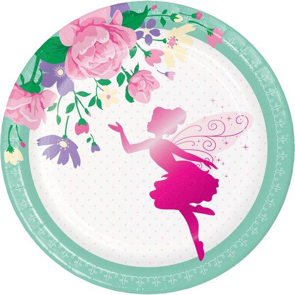 Creative Converting Floral Fairy Paper Disposable Dessert Plate Wayfair