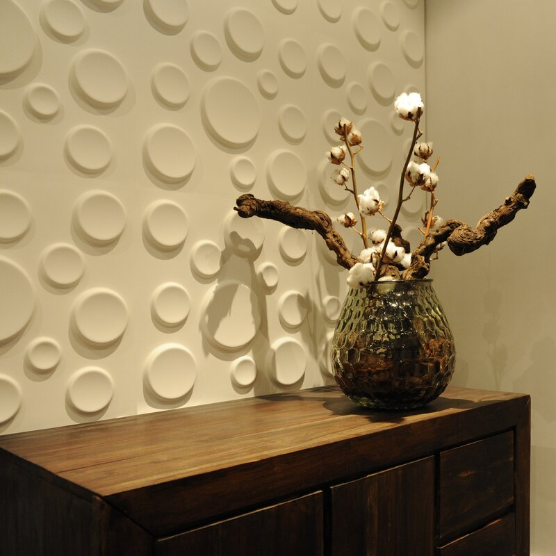 Decor Wonderland Craters 3D Decorative Wall Panels & Reviews | Wayfair