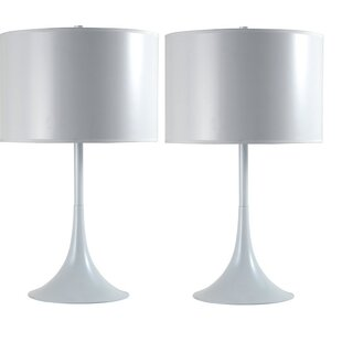 Online Reviews Modern Funnel 25 Table Lamp (Set of 2) By Latitude Run