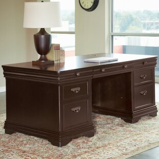 Lou Double Pedestal Executive Desk By Darby Home Co
