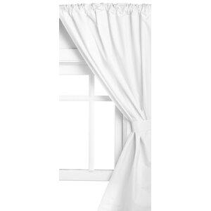 Solid Semi-Sheer Rod Pocket Curtain Panels (Set of 2)