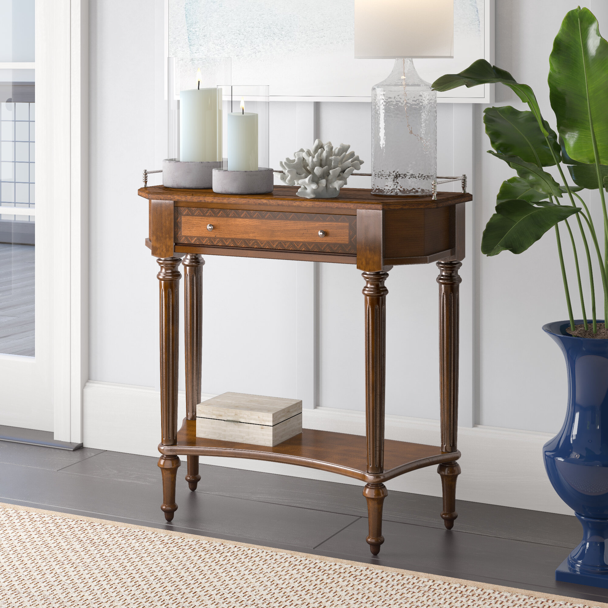 Beachcrest Home Madalene 30 Console Table Reviews Wayfair