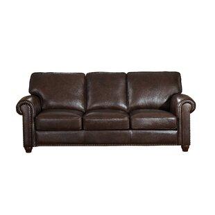 Kiaan Craft Leather Sofa Darby Home Co