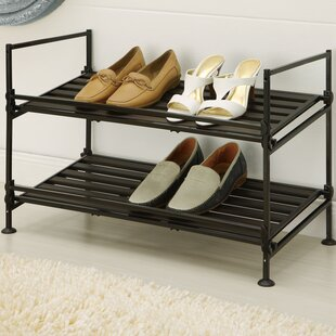 Price Check 2-Tier 6 Pair Shoe Rack By Organize It All