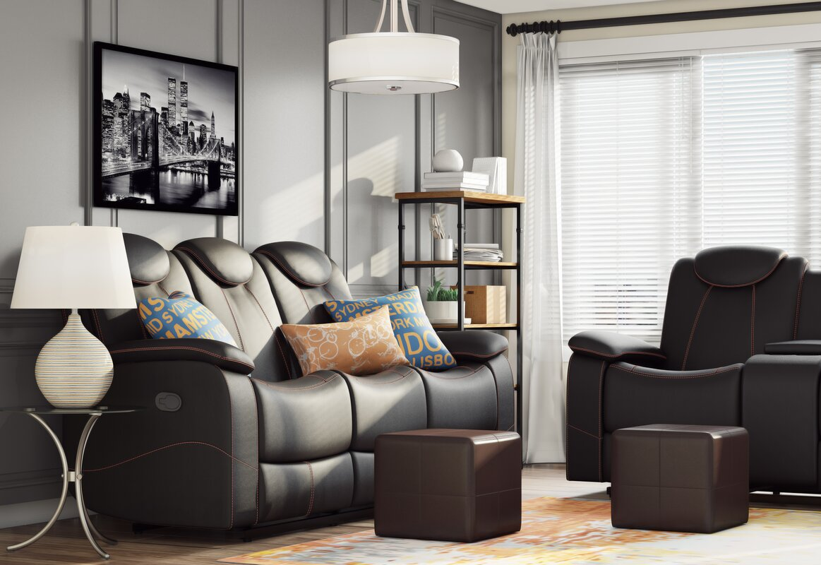Reclining Living Room Furniture. Erik Double Reclining Sofa Latitude Run  Reviews Wayfair