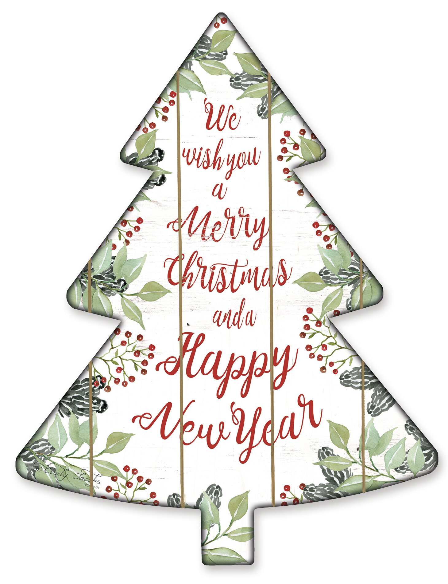 The Holiday Aisle Merry Christmas Wishes Tree Cutouts Wayfair
