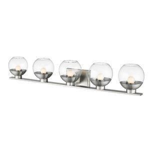 Affordable Price Mingus 5-Light LED Vanity Light By Wrought Studio
