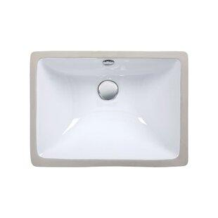 Great choice Ceramic Rectangular Undermount Bathroom Sink with Overflow By Ryvyr