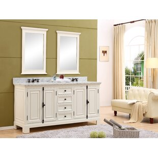 Hampson 72 Double Bathroom Vanity Set with Mirror by Canora Grey