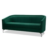 Mihika Velvet 72 Square Arm Sofa by Everly Quinn