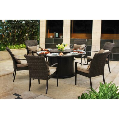 Jordahl 7 Piece Dining Set With Cushions by Latitude Run 2020 Sale