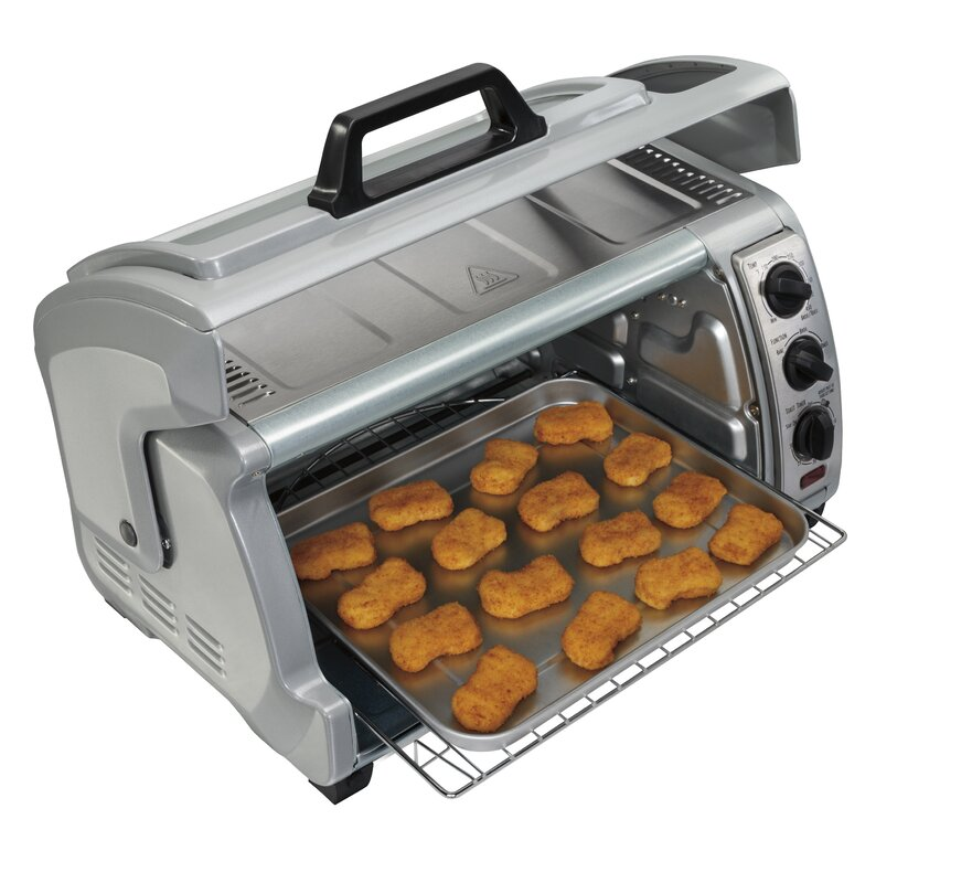 Ft. Easy Reach Toaster Oven With Roll Top Door