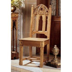 Design Toscano Sudbury Pine Gothic Solid Wood Dining Chair