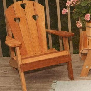 Creekvine Designs Cedar Furniture and Accessories Country Hearts Solid Wood Adirondack Chair