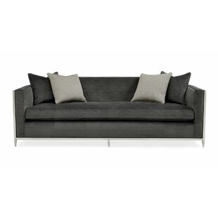 Metal Wrapped Bench Cushion Sofa by Caracole Classic