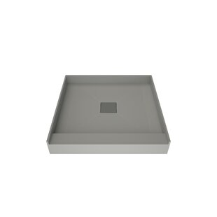 36 x 36 Single Threshold Shower Base with Center Drain by Tile Redi