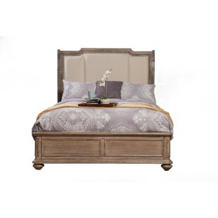 One Allium Way Talmadge Wooden Upholstered Sleigh Bed