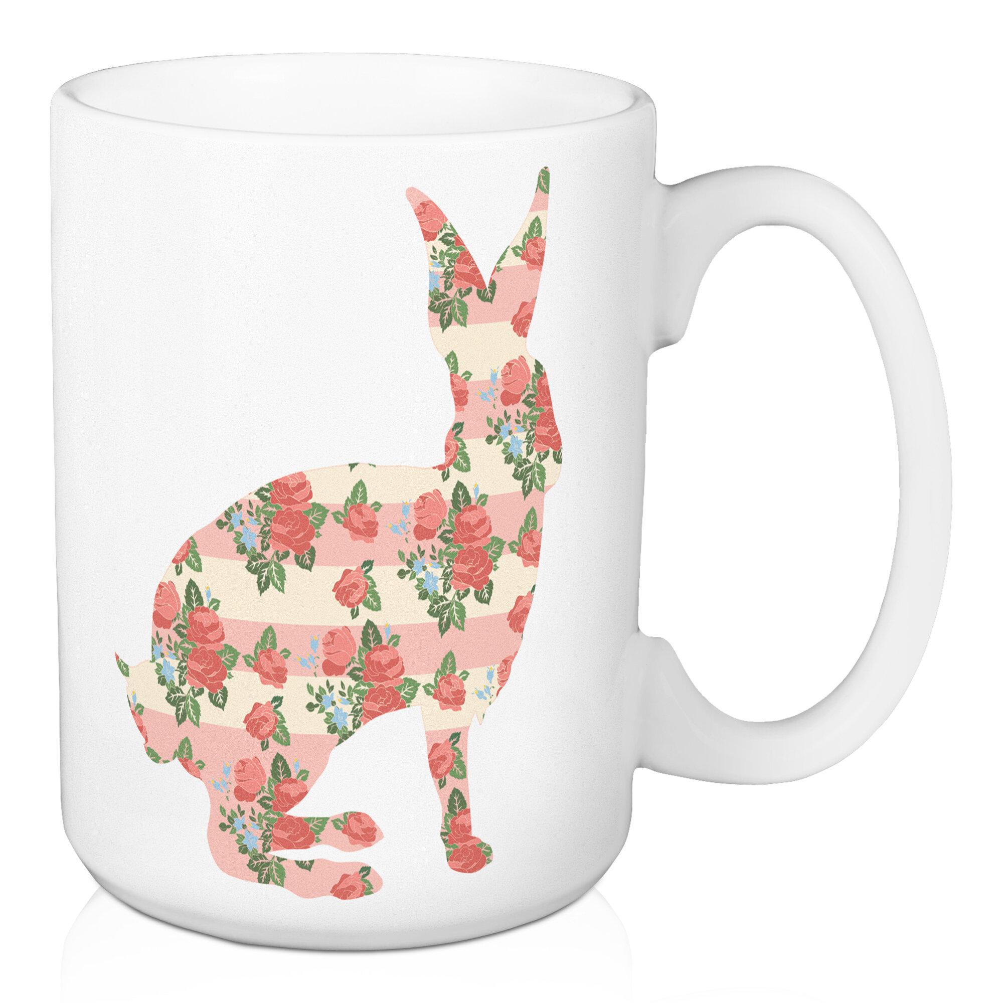 August Grove Choi Rose Bunny Coffee Mug Wayfair
