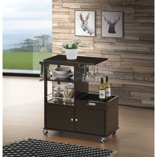 Rushton Kitchen Cart Canora Grey