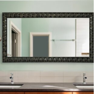 Astoria Grand Derrek Feathered Accent Double Vanity Wall Mirror