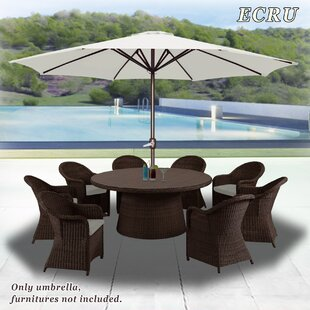 Darby Home Co Rosaura Octagonal Outdoor Garden Parasol Patio Market Umbrella