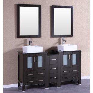 Pratt 60 Double Bathroom Vanity Set with Mirror