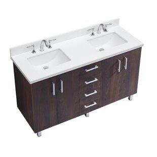 IN Series 60 Double Bathroom Vanity Set by InFurniture