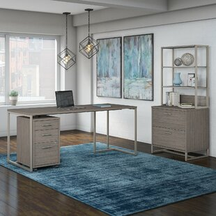 Method 3 Piece Rectangular Desk Office Suite by Kathy Ireland Office Bush Best Choices