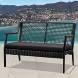 Calvin Patio Loveseat with Cushions by Real Flame