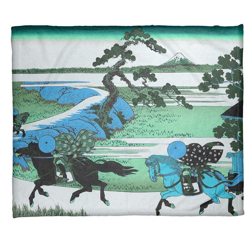 East Urban Home Katsushika Hokusai Sekiya Village At Sumida River Fleece Throw Wayfair