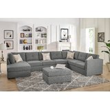 Lombardi Right Hand Facing Modular Sectional with Ottoman by Ivy Bronx