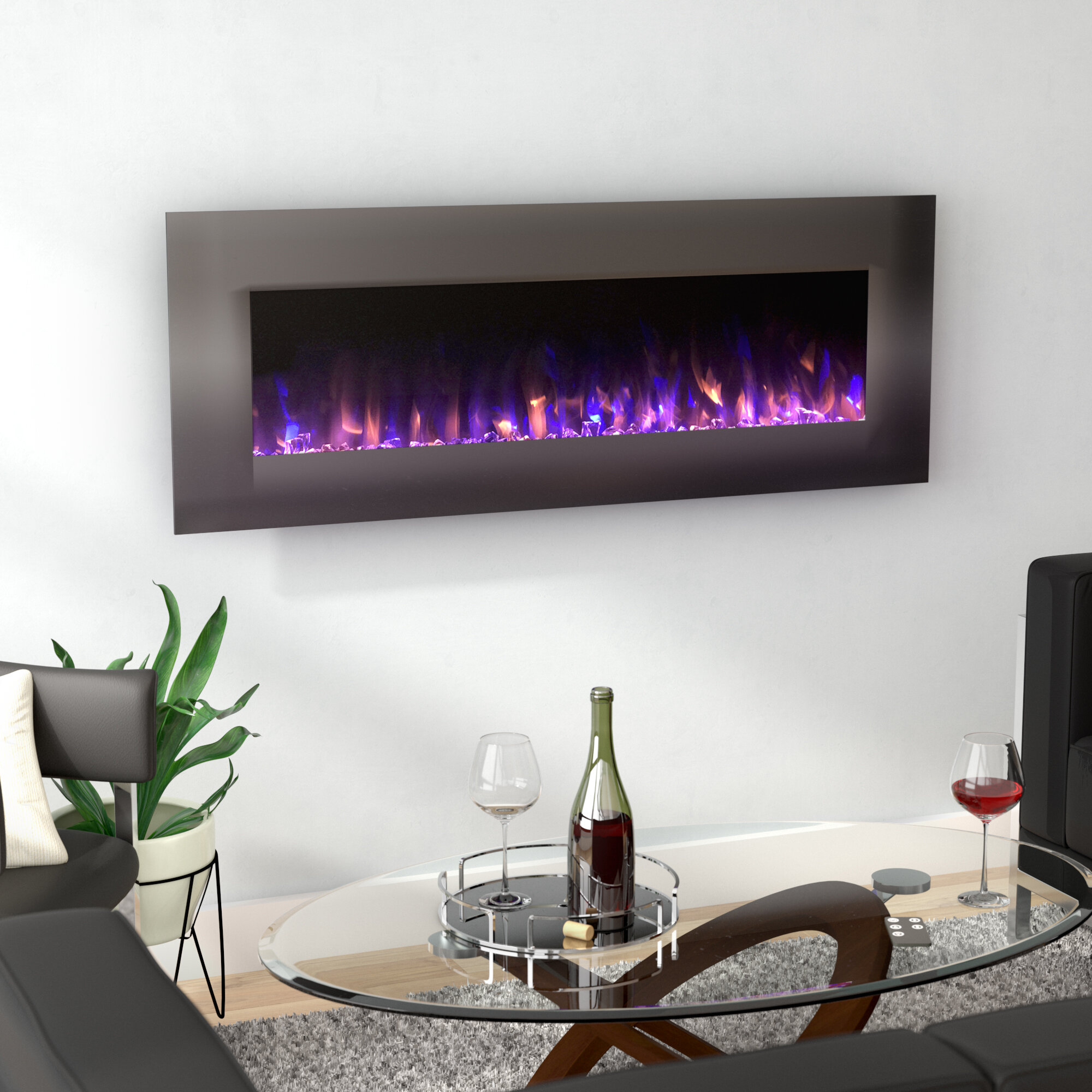 well stainless steel ethanol traveled hanging bookshelves fake wall built recessed unit fire pit electric fireplace black with tv stand in mounted living ideas small tall corner