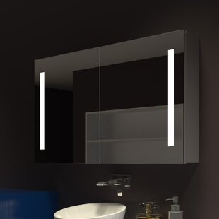 Low priced Lency 48 x 28 Surface Mount Frameless Medicine Cabinet with 3 Shelves and LED Lighting ByOrren Ellis