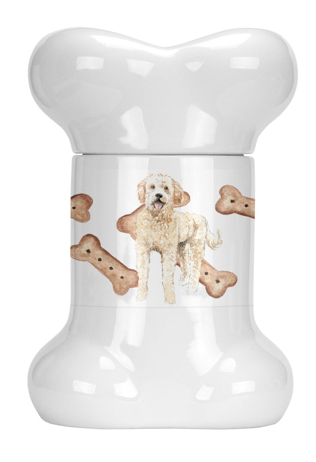 Tucker Murphy Pet Goldendoodle Bone Shaped Pet Treat Jar Wayfair