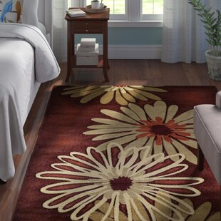 Deals Ganley Dahlia Hand-Knotted Burgundy/Terracotta/Tan Area Rug By Andover Mills