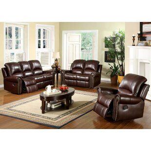 Darby Home Co Barnsdale Reclining Leather Configurable Living Room Set