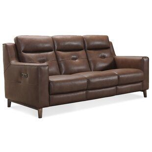 Lachlan Leather Reclining Sofa..
